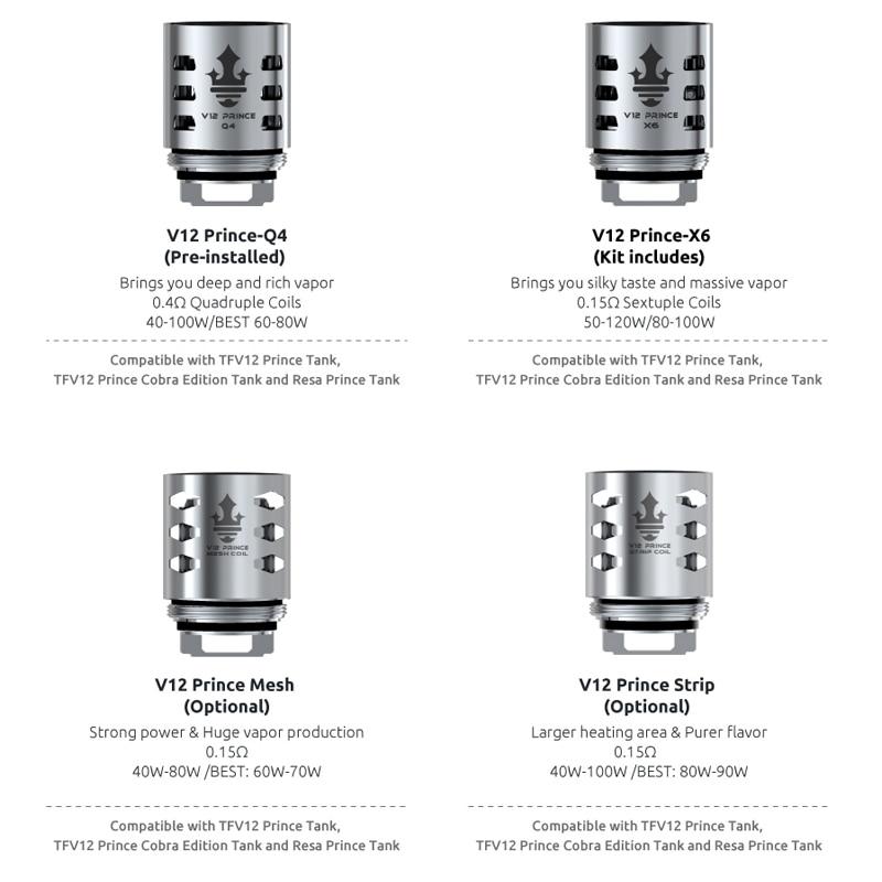 6pcs/lot SMOK Vape Coil TFV12 Prince Coil V12 Prince RBA Q4