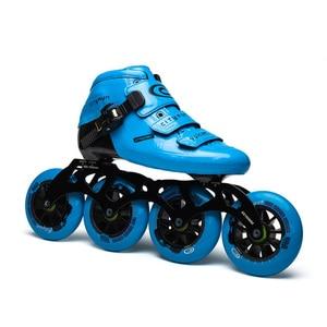 Image 3 - Cityrun Vulcan Speed 인라인 스케이트 탄소 섬유 전문 경기 스케이트 휠 레이싱 스케이트 Patines 유사 Powerslide
