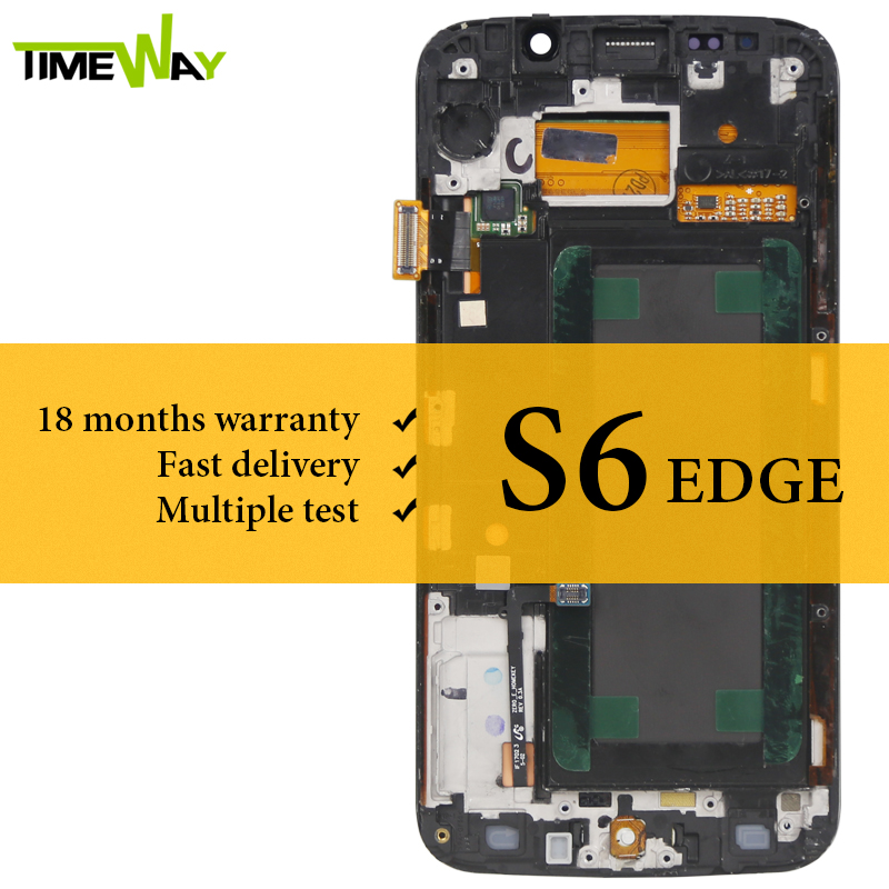 100% Tested For Samsung S6 Edge LCD Display With Frame With Touch Screen Digitizer Assembly For Samsung G925F Screen Replacement100% Tested For Samsung S6 Edge LCD Display With Frame With Touch Screen Digitizer Assembly For Samsung G925F Screen Replacement