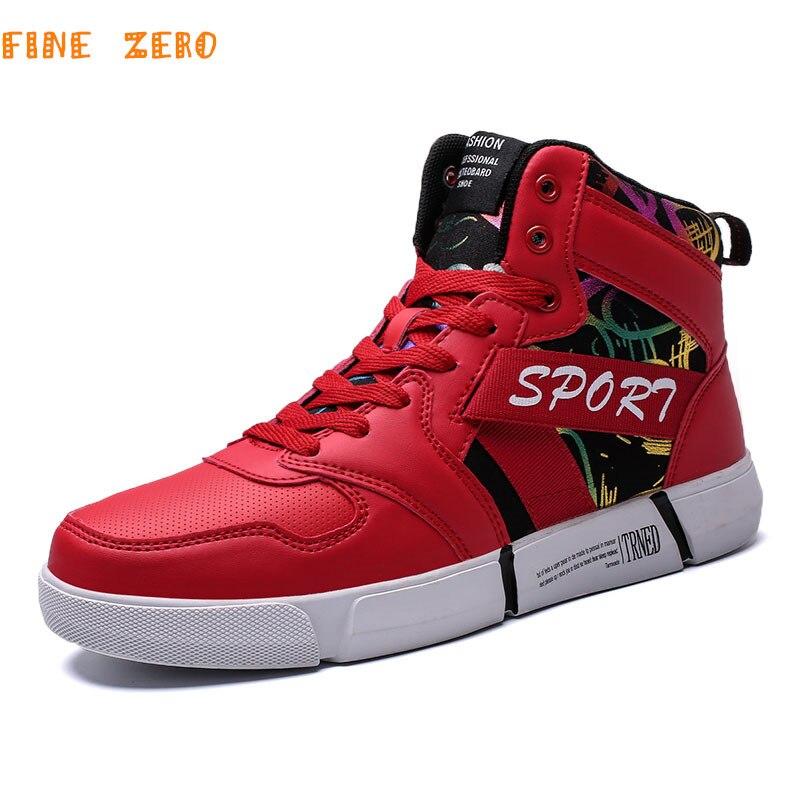 Hommes femmes chaussures de Skateboard automne Hip Hop en cuir baskets Couple haut chaussures de Sport athlétique haut Zapatillas Hombre Deportiva