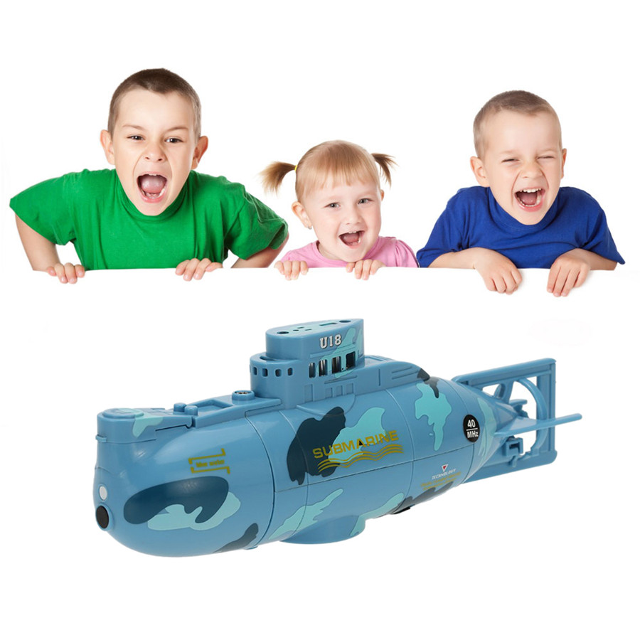 RC Submarine 3311 Sea Wing Star 27MHz Radio Control Submarine Tourism Boat Toy Boys Gifts Blue Free shipping