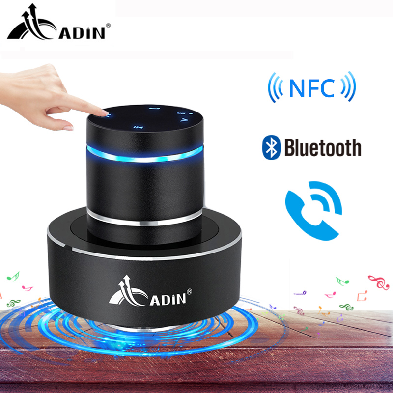 Adin 26W NFC Vibro Column Vibrodynamic Wireless Bluetooth Speaker Vibrating Bass Resonance Vibration Stereo Portable Subwoofer-in Portable Speakers from Consumer Electronics