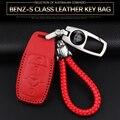 Подходит для Mercedes  чехол для ключей  Maybach S-class Maybach57/62  Кожаный Автомобильный логотип  значок S400S450S560S680  чехол для ключей  сумка  кольцо