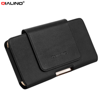 For IPhone 7 Plus Pouches Bags QIALINO Genuine Cowhide Leather Holster Case For Huawei Mate 9