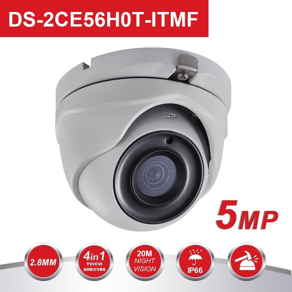 HIK 5MP Analog Turret Camera DS 2CE56H0T ITMF 5 Megapixel High Performance CMOS EXIR CCTV Camera