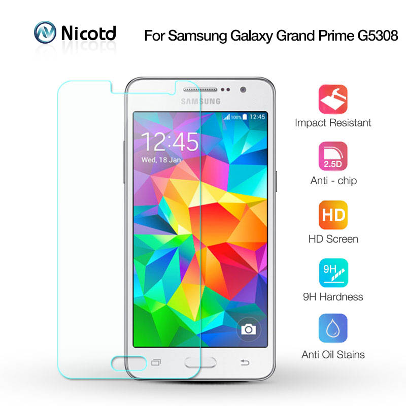Nicotd Tempered Glass For Samsung Galaxy Grand Prime G5308 Screen Protector Film On G530 G531 G5308 G530H G531F G531H SM-G531