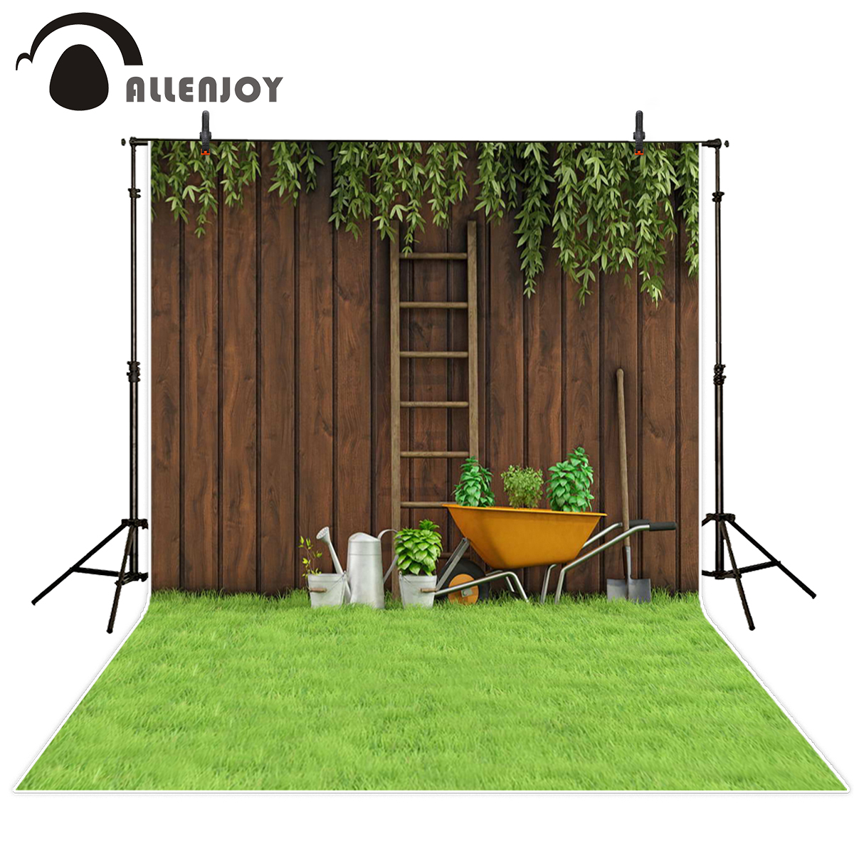 Allenjoy photo background backyard grass board tools backdrops for photo studio photographer headboard natural scenery backdrop кабель витая пара panduit u utp cat 6 lszh 305 м