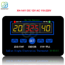 XH-W1411 W1411 AC 220V DC 12V 10A LED Digital Temperature Controller Thermostat Control Switch Sensor For Greenhouses Aquatic цена