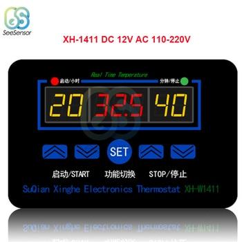 XH-W1411 W1411 AC 220V DC 12V 10A LED Digital Temperature Controller Thermostat Control Switch Sensor For Greenhouses Aquatic цена 2017