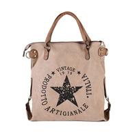 2017 New Design Winter Autumn Canvas Handbag Women Vintage Star Printing Shoulder Bag Travel Tote Teenager