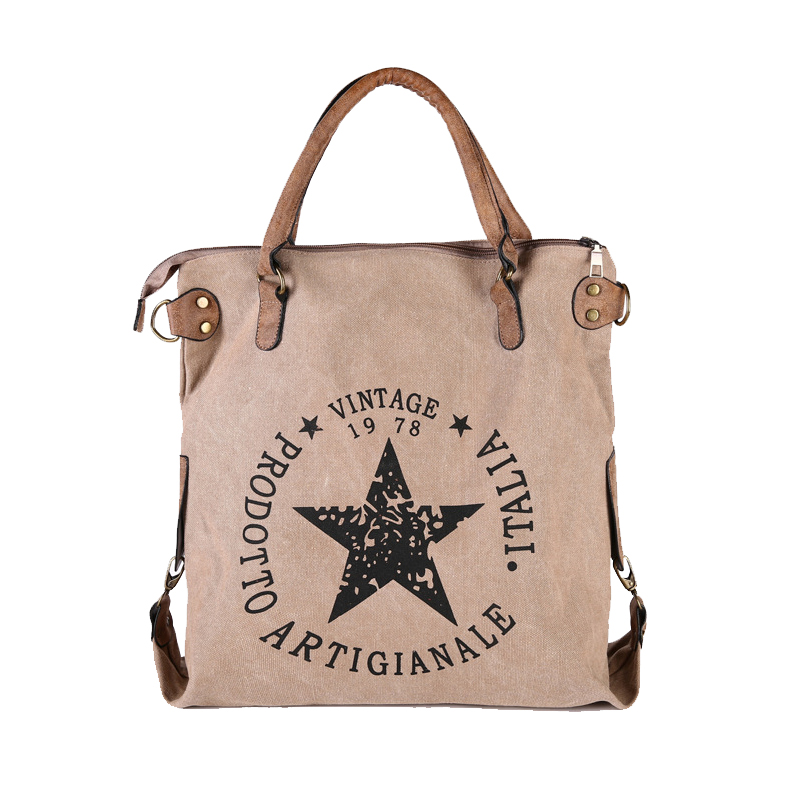 2017 New Design Winter Autumn Canvas Handbag Women Vintage Star Printing Shoulder Bag Travel Tote Teenager Girls Shopping scione new canvas women bag shopping shoulder bag funny design piano printing handbag beach tote woman canvas hand bags 2pcs set