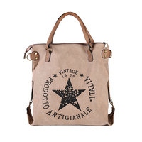 2017 New Design Winter Autumn Canvas Handbag Women Vintage Star Printing Shoulder Bag Travel Tote Teenager