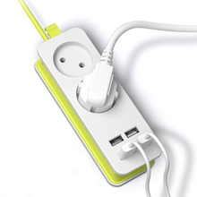 Штепсельная Вилка европейского стандарта, блок питания, 2 разъема переменного тока, адаптер для путешествий, 1200 Вт, несколько переносных, 4 порта USB, зарядное устройство, розетка 1,5 м, для смартфонов, планшетов