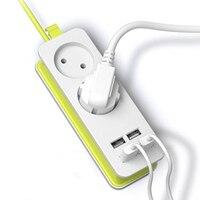 ЕС Plug power Strip 2 AC адаптер пробки 1200 Вт несколько Портативный 4 USB порт зарядное устройство гнездо 1,5 м для смартфонов планшеты