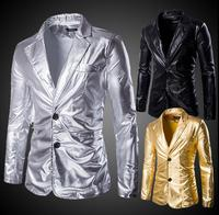 Men Suits Designs Masculino Punk Rock Stage Costumes For Singers Men Gold Blazer Dance Clothes Jacket