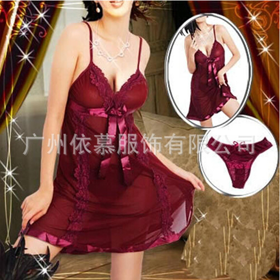 Exotic Sexy Women Lingerie Sexy Transparent Erotic Ngiht Dress Lace Spaghetti Strap Hot Sleepwear Plus Large Size feminino BC09