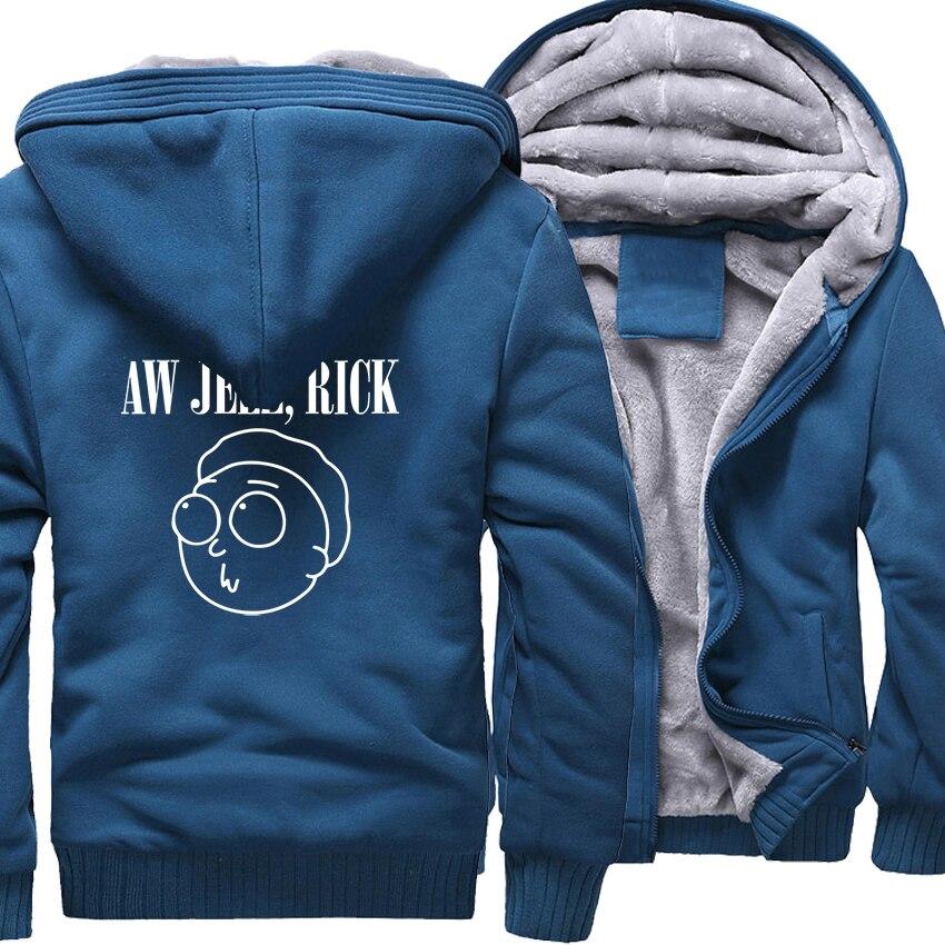 2018 Autumn Winter Brand Clothes Streetwear Jacket Men Hoody RICK AND MORTY Sweatshirt Thick Zipper Men's Hoodies Fleece Jackets