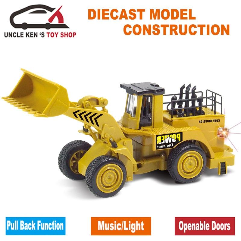 Caterpillar รุ่นจำลอง, D Iecast KOMATSU รถก่อสร้าง, รถขุดของเล่น, Bulldozer พร้อมกล่อง / ฟังก์ชั่นดึงกลับ / เพลง / แสง