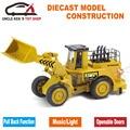 Caterpillar Replica Model, Diecast KOMATSU Construction Car, Excavator Toy, Bulldozer With Box/Pull Back Function/Music/Light