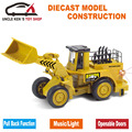 Oruga Modelo de Réplica, KOMATSU Construcción Diecast Coche, excavadora de Juguete, Bulldozer Con Caja/Tire Hacia Atrás la Función/Música/Luz