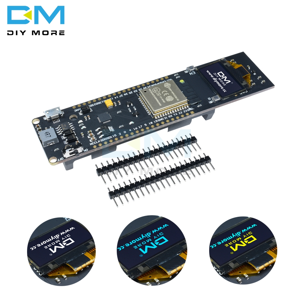 ESP32 ESP-32 ESP8266 0.96 Inch OLED Display 18650 Lithium Battery WiFi Bluetooth Shield Development Board CP2102 Module