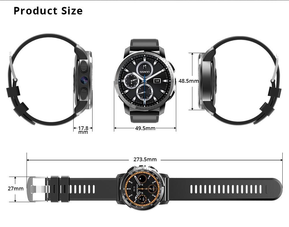 NEW Makibes M3 4G MT6739 Dual chip Waterproof Smart Watch Phone Android 7.1 8MP Camera GPS 800mAh Answer call SIM TF Smartwatch