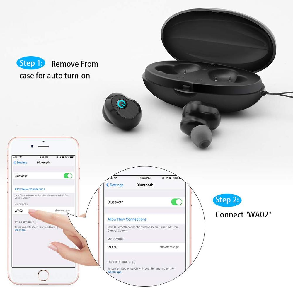 Image 5 - WA02 TWS 5.0 Bluetooth Earphone IPX7 waterproof Sports True Wireless Earbuds HiFi Stereo Sound Wireless headphones for phone-in Bluetooth Earphones & Headphones from Consumer Electronics