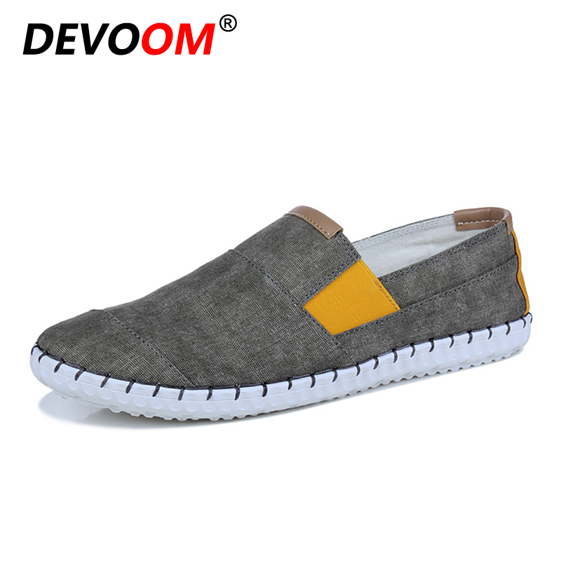 DEVOOM Man Canvas Shoes Men Casual Shoes 2017 Summer Fashion For Mens Slip-on Loafers Breathable Cheap Shoes sapato masculino