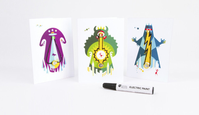 Conductive ink electronic greeting card 3 piece bareconductive conductive ink electronic greeting card 3 piece bareconductive electric paint m4hsunfo