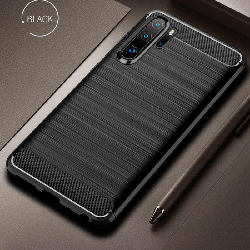 For Huawei P30 Pro Case P30 Cover Soft Carbon Fiber Bumper TPU Silicone Back Cover For Huawei P30 Lite Case For Meizu M6s mbluS6