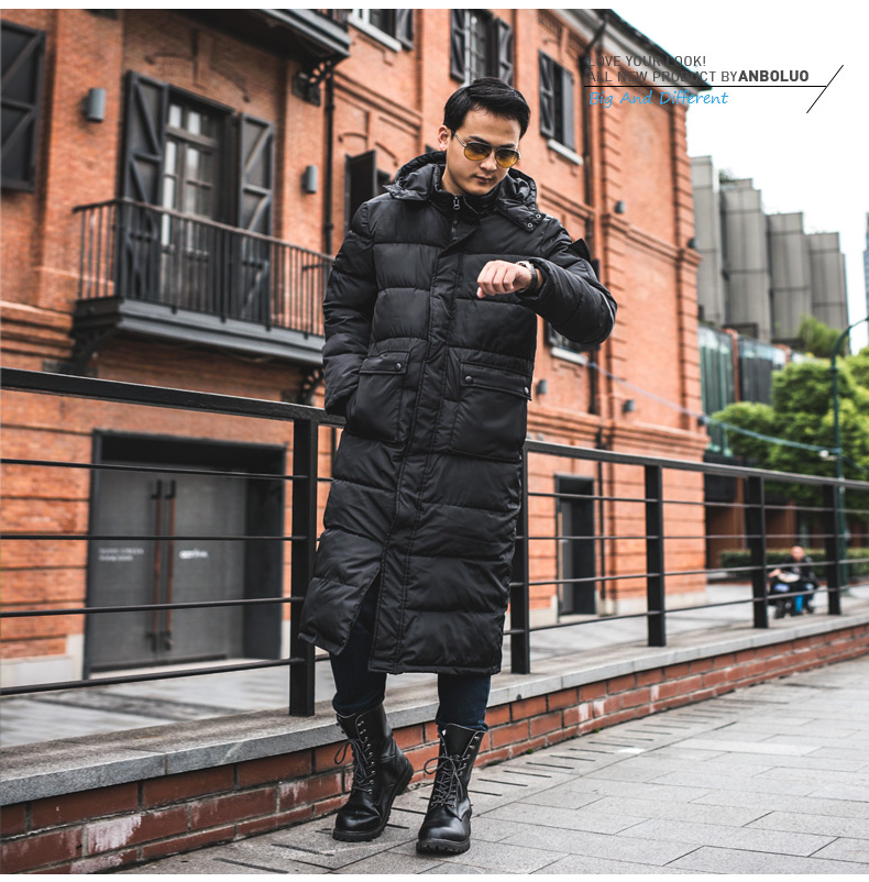 Russian Style Men Winter Snow Wear Coat Quilted Jacket Mens Fashion Hooded Padded Jackets Men Calf Length Long Parkas With Hood