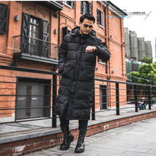 Russian Style Men Winter Snow Wear Coat Quilted Jacket Mens Fashion Hooded Padded Jackets Men Calf L
