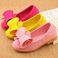 2017 outono venda quente das crianças fashion shoes meninas princesa bow peas shoes safty qualidade não-slip shoes para crianças size21-36