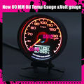 Dayo New 7Colors 60mm Oil Temp Gauge High Quality Temperature Meter & Voltage gauge Multi D/A LCD Digital Display Racing Gauge