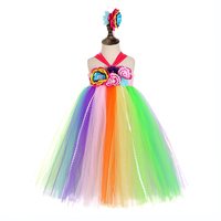 Candy Flower Girls Easter Dress Kids Clothers Back to School Costumes Girl Sleeveless Tulle Long Dress Ice Cream Dress Vestido