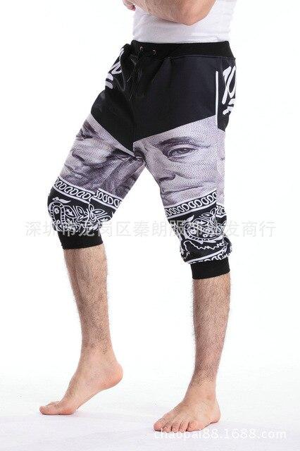 7b670276e1f684 Newest Fashion Emoji 100 Jogger Mens shorts Pants Sport Black Jogging  Cartoon Track short Pants boys Harem Sweatpants Trousers