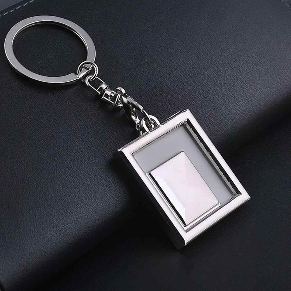 1 шт прозрачная вставка фото рамка для фото брелок 1 шт DIY раздельное кольцо брелок подарок 3,8*3,8 см