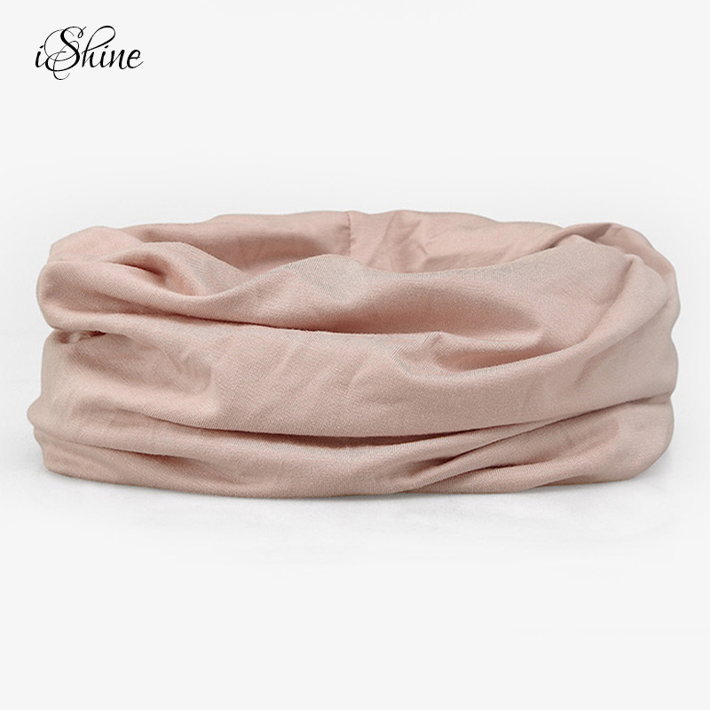 Solid Color Women Winter Warm Keeping Soft Scarves Ring Ladies Confinement Cap Pregnant Hat Purified Modal Scarf Headgear Hats