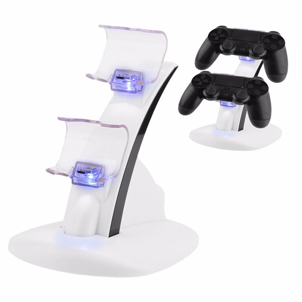 LED Micro Porta Caricatore Doppio Controller 2 LED Micro USB di Ricarica Veloce della Stazione Del Bacino Del Basamento Del Caricatore per PS4 Controller