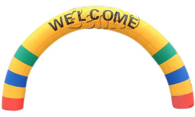 R041 best popular inflatable rainbow arch,inflatable tire advertising,inflatable arch rental