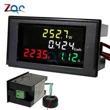 Voltmètre numérique AC 200 ~ 450V / AC 80 -300V 100A, ampèremètre, Watt, moniteur de tension actuelle, testeur d'énergie