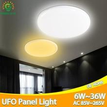 Светодиодный потолочный светильник 36 Вт 24 Вт 18 Вт 13 Вт 9 Вт 6 Вт AC 85-265 в потолочный светильник светодиодный панельный светильник поверхность современный светодиодный светильник для гостиной светильник s