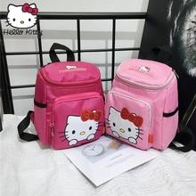 Kawaii Cartoon Pink Hello Kitty Backpacks Cute Handbag Girls Small Bags Children Schoolbag Kids Gifts Good Quality