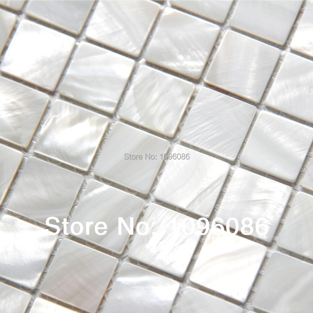 Shinning! Silver White Mosaic Mother of Pearl Tiles Kitchen ...