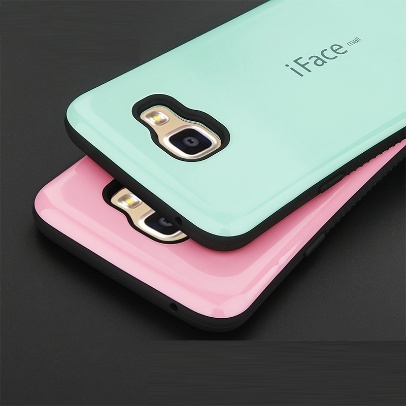 IFace Silicone Rubber Fundas Case For Samung Galaxy S8 S7 S6 Edge Bags Shockproof Hard Back Cover For Galaxy S7 S6 S8 Shell