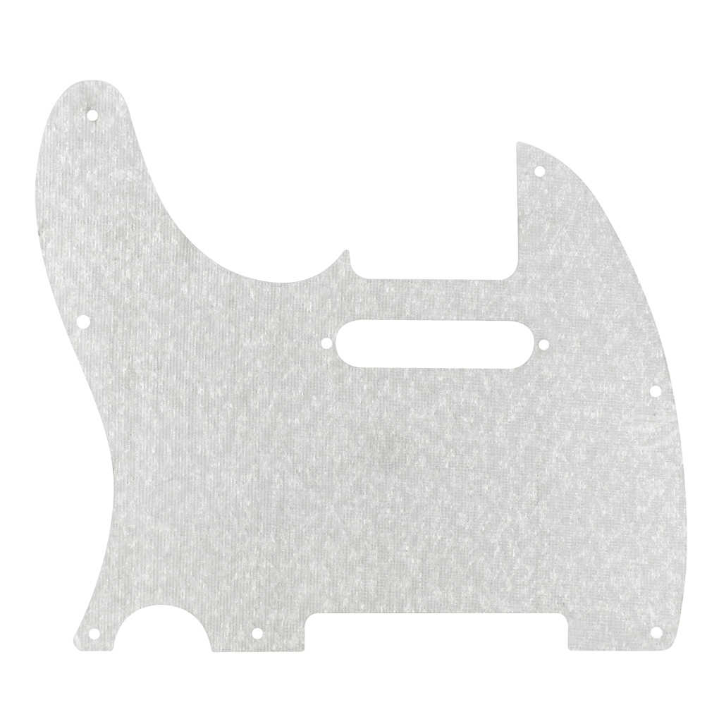 FLEOR Standard 8 Hole Electric Guitar Pickguard Plate Tele 1Ply w/Screws for FD American/Mexico Tele Style Guitar,Sparkle Silver