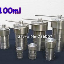 100 мл PTFE гидротермальный Автоклавный реактор с тефлоновая камера гидротермальный синтез 100 мл, резервуар для пищеварения высокого давления