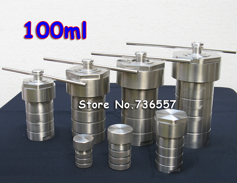 100ml PTFE Hydrothermal Autoclave Reactor With Teflon Chamber Hydrothermal Synthesis 100ml, High Pressure Digestion Tank other 100ml