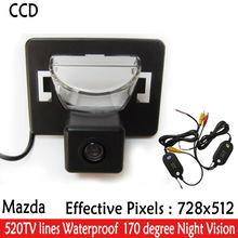 2.4g wireless telecamere di retrovisione macchina fotografica d'inversione di parcheggio assist ampio angolo di visione notturna telecamera per la retromarcia per mazda 5 2005-2010