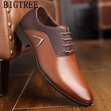 Итальянская официальная обувь Мужские модельные туфли кожаные свадебные модельные мужские туфли-оксфорды для офиса scarpe uomo eleganti laarzen dames